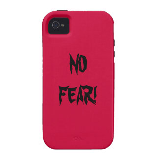 NO FEAR IN BASIC RED WITH BLACK VIBE iPhone 4 CASE