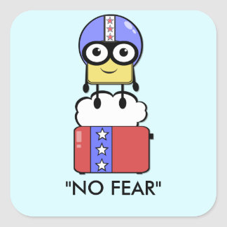 No Fear Square Sticker