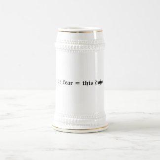 no fear = this dojo stein beer steins