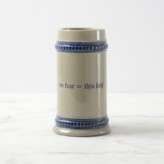 no fear = this dojo stein (blue/white) beer steins