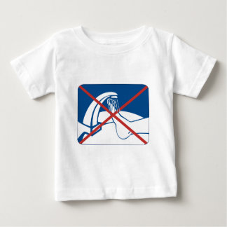No Feet Washing in the Sink Sign, Thailand Baby T-Shirt