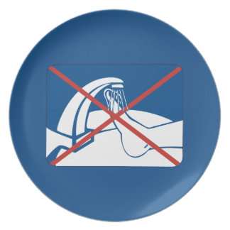 No Feet Washing in the Sink Sign, Thailand Plate