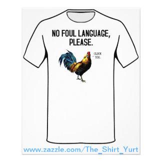 No Foul Language Fowl Flyer