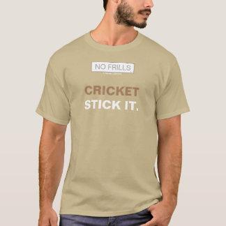 No Frills CRICKET - STICK IT. T-Shirt
