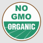 No GMO Organic Sticker