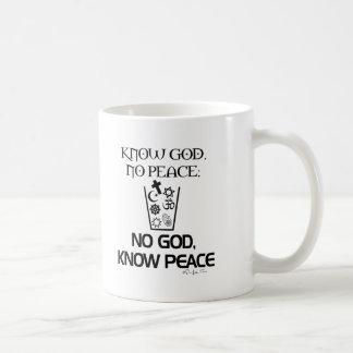 No god, Know Peace Coffee Mug