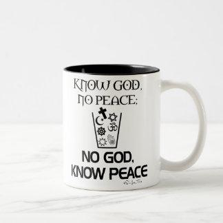 No god, Know Peace Two-Tone Mug