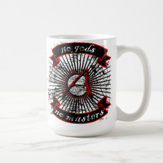 no gods, no masters basic white mug