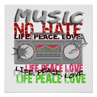 No Hate Music poster
