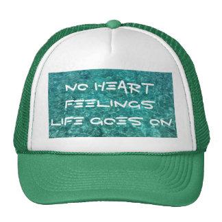 No Heart Feelings on Green Trucker Hat