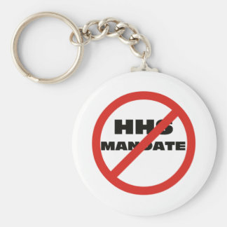 No HHS Mandate Basic Round Button Key Ring