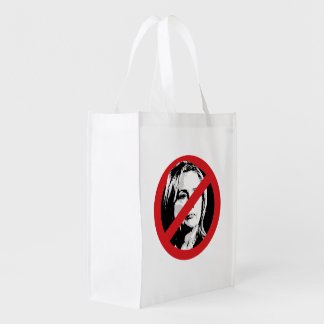 NO HILLARY CROSSED OUT.png Reusable Grocery Bag
