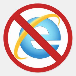 No Internet Explorer Sticker (Solid Stroke)