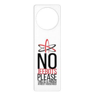 No Jeebots Door Hanger