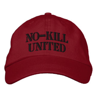 NO-KILL UNITED : HAT-BLK EMBROIDERED HAT