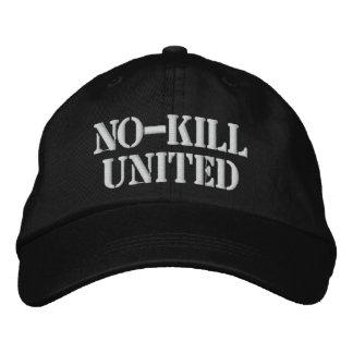 NO-KILL UNITED : HAT-WHT EMBROIDERED CAP