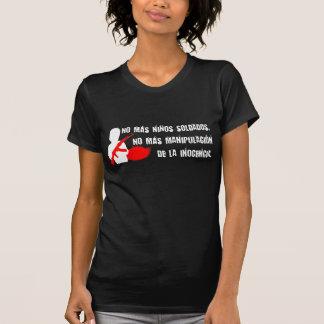 No más niños soldados tee shirts