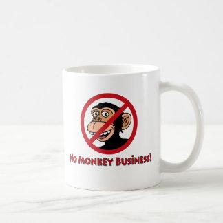No Monkey Business Coffee Mug