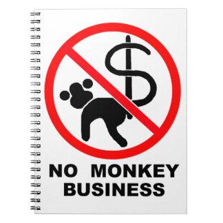 No monkey business spiral notebook
