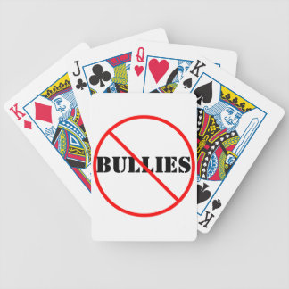 NO MORE BULLIES PLAYING CARDS