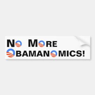 No More Obamanomics Bumper Sticker