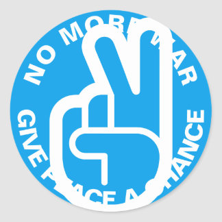 No More War Round Sticker