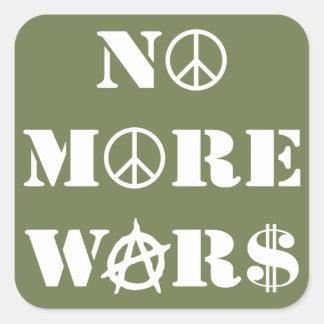 No More Wars Square Sticker