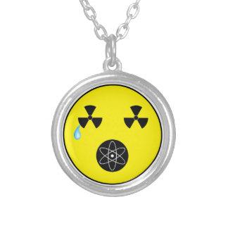 No Nukes Round Pendant Necklace