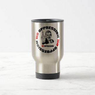 No Oppression Page Logo Stainless Steel Travel Mug