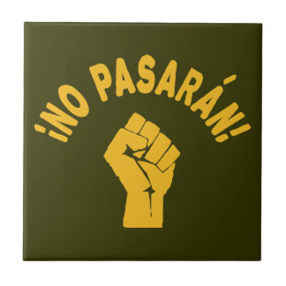 No Pasaran - They Shall Not Pass Small Square Tile