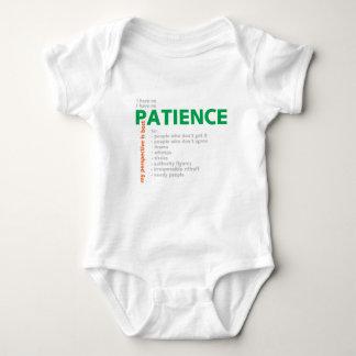 No Patience - Villain Baby Bodysuit