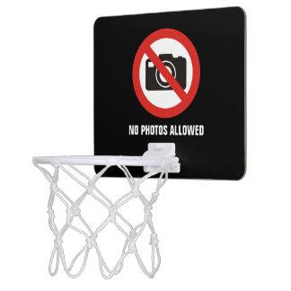 No Photos Allowed Mini Basketball Hoop