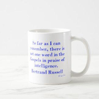 No Praise Of Intelligence In The Gospels Basic White Mug