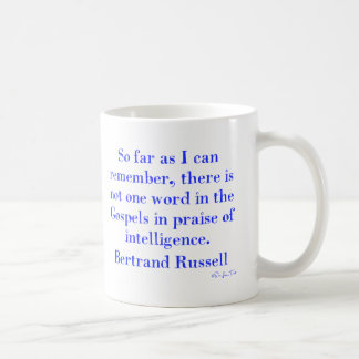 No Praise Of Intelligence In The Gospels Mugs