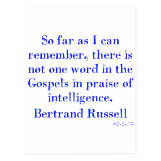 No Praise Of Intelligence In The Gospels Postcard