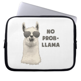 No Problem Llama Laptop Sleeve