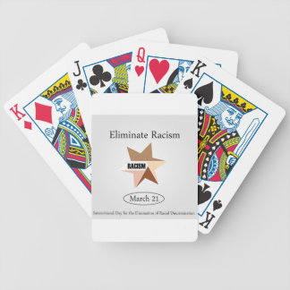 No Racism- Graphic showing unity Poker Deck
