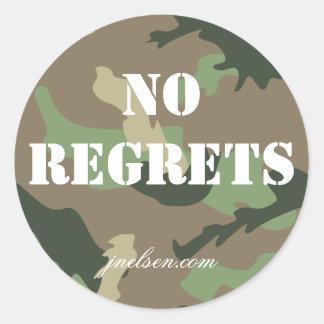 No Regrets Camo Sticker jnelsen.com