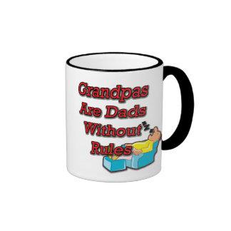 No Rule Grandpa Ringer Mug