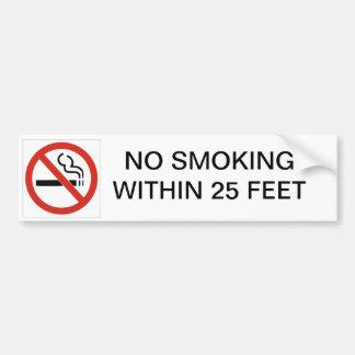 NO SMOKING WITHIN 25 FEET BUMPER STICKER