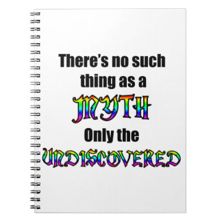 No Such Thing as a Myth Notebook