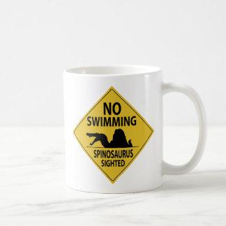 No Swimming – Spinosaurus Sighted Coffee Mug