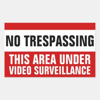 No trespassing video surveillance stickers