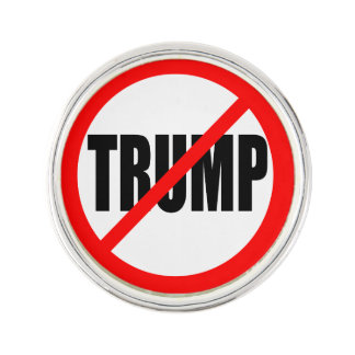 'NO TRUMP' LAPEL PIN
