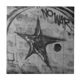 No War Graffiti Small Square Tile