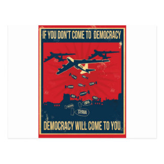 No war in Syria! Postcard
