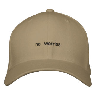 no worries embroidered hats