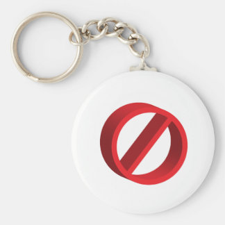 No (you fill in the blank) basic round button key ring