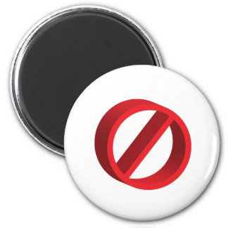 No (you fill in the blank) 6 cm round magnet