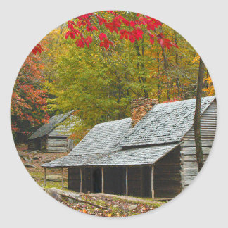 "Noah ""Bud"" Ogle Cabin in the Smokies Classic Round Sticker"